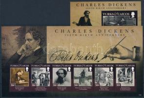 Charles Dickens minisheet + block Charles Dickens kisív  + blokk