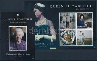 Queen Elizabeth II. minisheet + block, II. Erzsébet királynő kisív + blokk