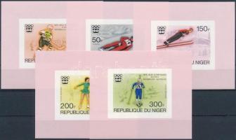 Winter Olympics, Innsbruck imperforated set in block, Téli Olimpia, Innsbruck vágott sor blokk formában