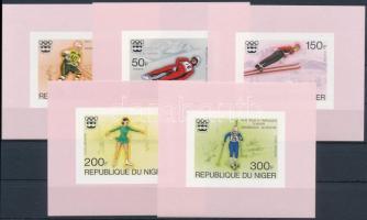 1976 Téli Olimpia, Innsbruck vágott sor blokk formában Mi 506-510