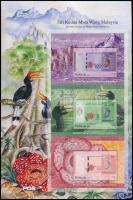2012 Bankjegyek, madarak, teknősök 2 klf 3 blokkot tartalmazó ív Mi 1978-1983