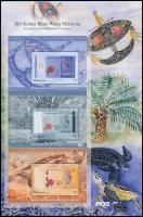 Banknotes, birds, turtles 2 diff sheet with 3 block, Bankjegyek, madarak, teknősök 2 klf 3 blokkot tartalmazó ív