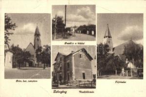 Zebegény, vasútállomás, híd, Római katolikus templom (szakadás / tear)