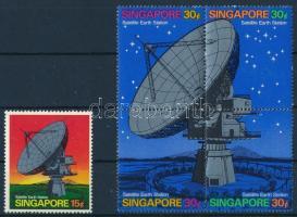 1971 Műhold földi állomás sor négyestömbbel Mi 142-146