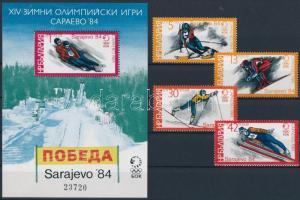Téli Olimpia, Szarajevó sor + blokk, Winter Olympics, Sarajevo set + block