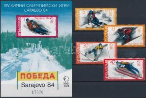 1983 Téli Olimpia, Szarajevó sor Mi 3201-3204 + blokk 135