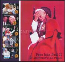 Pope John Paul II. mini sheet II. János Pál 25 éve pápa kisív