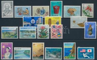 1971-1972 20 diff stamps, 1971-1972 20 klf bélyeg