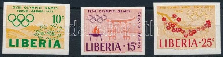 1964 Olimpia vágott sor Mi 623-625 B