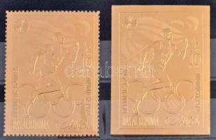 Olympics imperforated and perforated stamp, Olimpia vágott és fogazott bélyeg