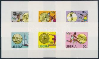 1976 Olimpia sor vágott blokk formában Mi 990-995