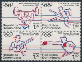 1984 Nyári Olimpia, Los Angeles 4-es tömb Mi 1427-1430