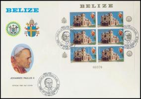 Pope John Paul II. mini sheet FDC, II. János Pál pápa kisív FDC-n