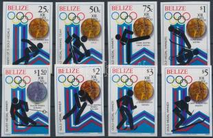 1980 Téli Olimpiai érmesek vágott sor Mi 501-508 B