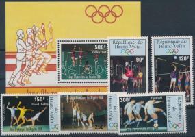1984 Nyári Olimpia, Los Angeles sor Mi 929-933 + blokk Mi 70