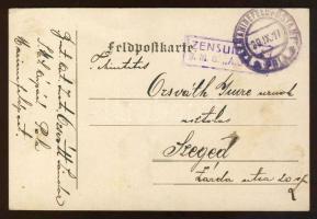 1917 Tábori lap / Postcard S.M.S. ÁRPÁD + MFP POLA