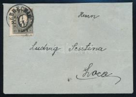 """~1860 3k on cover (flap missing) ,,DEBRECZIN""""  Sign: Zenker, ~1860 3kr II. helyi levélen (1 hajtóka hiány/ flap missing) ,,DEBRECZIN""""  Sign: Zenker"""