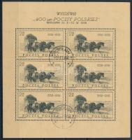 1958 400 éves a lengyel posta kiállítás kisív Mi 1072 I (hajtásnyom/folded)