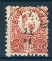 1871 Réznyomat 5kr / Mi 10 ÉLESD