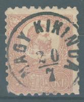 1871 Kőnyomat 5kr (sarokhiba) NAGY KIKINDA