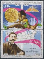 Olympics block of 4 SAMPLE, Olimpia 4-es tömb MINTA