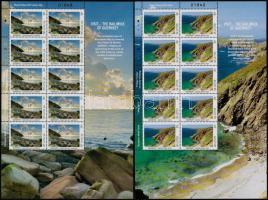 Europa CEPT: Turism set 2 values + mini sheet pair, Europa CEPT: Turizmus sor 2 értéke + kisívpár
