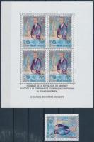 Konrad Adenauer's death stamp + block, Konrad Adenauer halála bélyeg + blokk