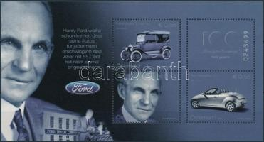 100th anniversary of the Ford automobile block, A Ford automobil 100. évfordulója blokk