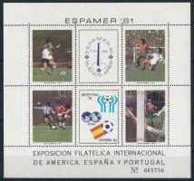 Football, Stamp Exhibition block Labdarúgás, bélyegkiállítás blokk