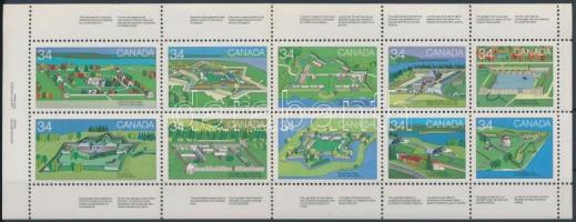 Canada day: Forts (2nd) stamp booklet page, Kanadaiak napja: Erődök (II) bélyegfüzetlap