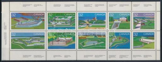Kanadaiak napja, Erődök (I.) bélyegfüzetlap, Canada day, Forts (1st) stamp booklet page