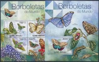 Lepkék kisív+ blokk, Butterflies minisheet + block