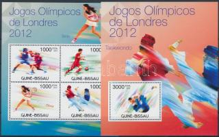 Olympic games London minisheet + block, Olimpia London kisív + blokk