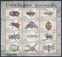 Insects, bugs mini sheet with 12 stamps Rovarok, bogarak 12 bélyeget tartalmazó kisív