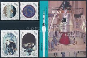 Moon Landing - Apollo 11 set + block Holdraszállás - Apollo 11 sor  + blokk