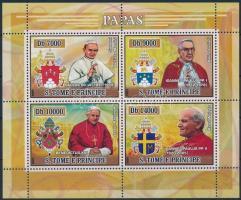 Popes and their coat-of-arms minisheet, Pápák és címereik kisív