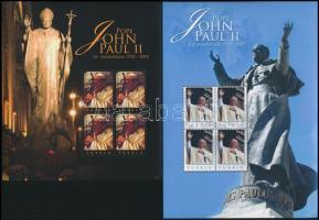 2010 II. János Pál pápa halálának 5. évfordulója kisívpár Mi 1670-1671