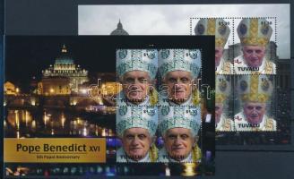 Pope Benedict XVI minisheet pair, XVI. Benedek pápa kisívpár
