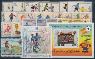 1966-1994 Football 3 sets + 2 blocks, Labdarúgás motívum 1966-1994 3 klf sor + 2 klf blokk