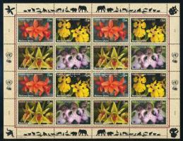 Orchideák teljes ív, Orchids complete sheet