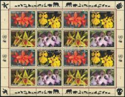 Orchids sheet, Orchideák teljes ív