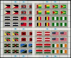 Flag minisheet set Zászló kisívsor