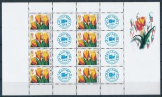 Greeting stamp: tulips minisheet Üdvözlőbélyeg: Tulipánok kisív
