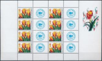 2004 Üdvözlőbélyeg: Tulipánok kisív Mi 479