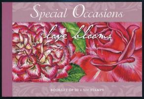 Greeting stamps: Roses stamp-booklet, Üdvözlő bélyegek: Rózsa bélyegfüzet