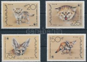 WWF Sand cat and desert fox, ;Jemeni Köztársaság;1989 WWF Homoki macska és sivatagi róka