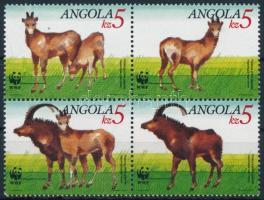 1990 WWF Óriás antilop négyestömb Mi 799-802