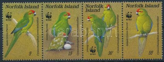 WWF Goat Parrot stripe of 4, WWF: Kecskepapagáj 4-es csík