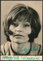 Angelica Domröse (1941-) német színésznő saját kézzel aláírt fénykép / autograph signed photo