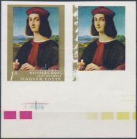 1968 Festmények 1Ft vágott fázisnyomat pár, az egyiken az arany keret erős hiányával